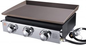 tow burners stainless steel gas griddle and grill portable