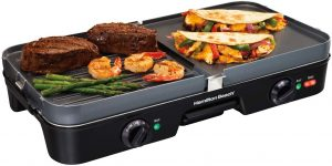 electric griddle with shrumps