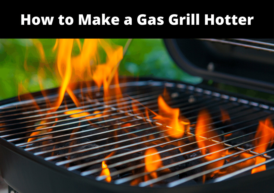 yellow flames rising high out of a hot gas grill